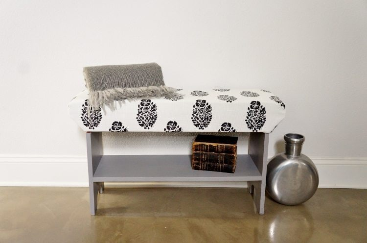 DIY Upholstered Wood Bench