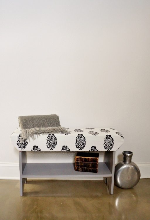 DIY Wood Upholstered Bench