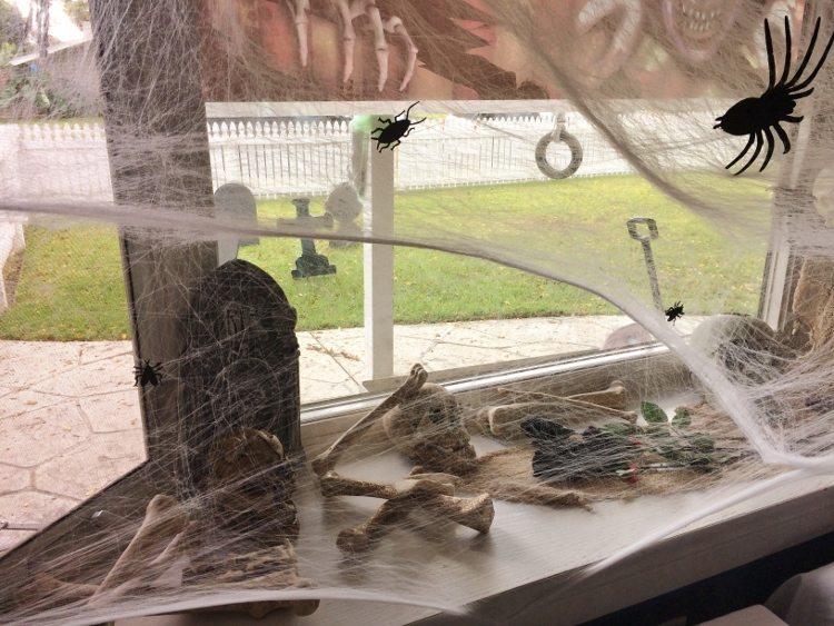 Halloween Bay Window Decorations