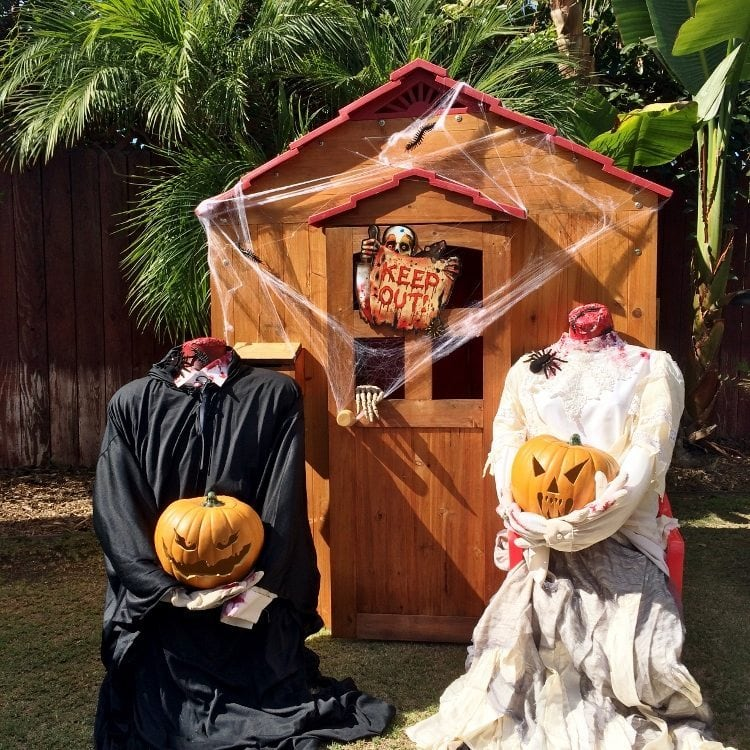 Headless Man and Woman Halloween Decorations