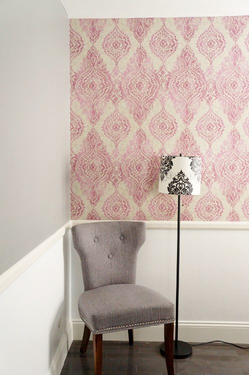 How to Hang Patterned Wallpaper DIY Inspired