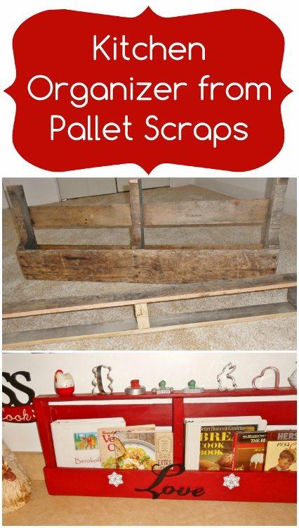 Kitchen Organizer from Pallet Scraps DIY Inspired