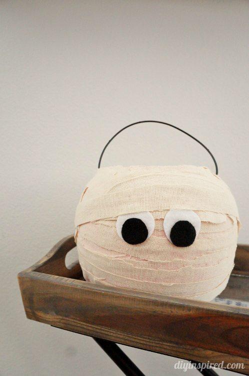 Plastic Trick or Treat Pumpkin Makeover DIY Inspired