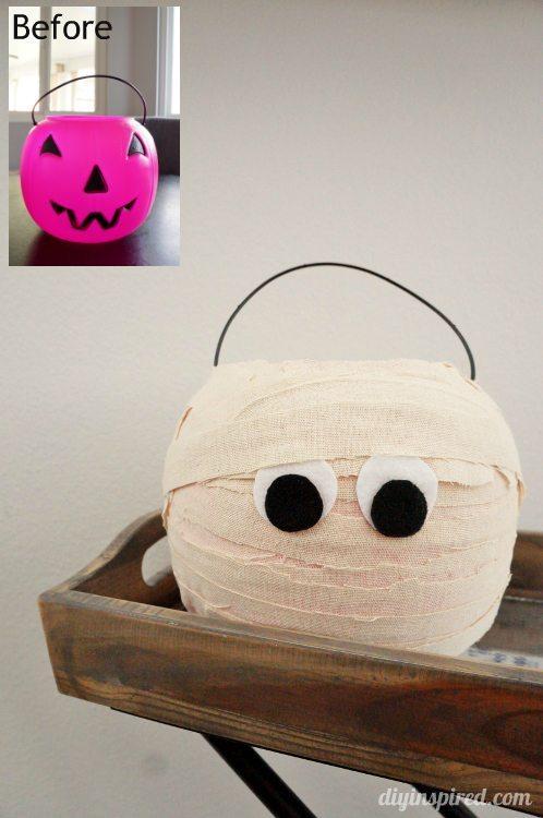 Plastic Trick or Treat Pumpkin Makeover