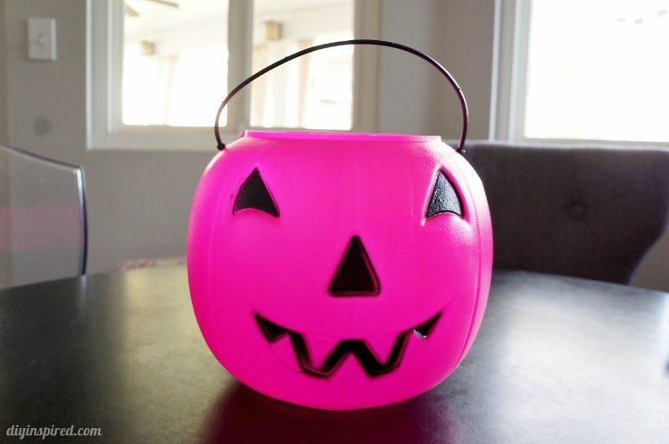 Plastic Trick or Treat Pumpkin for Halloween