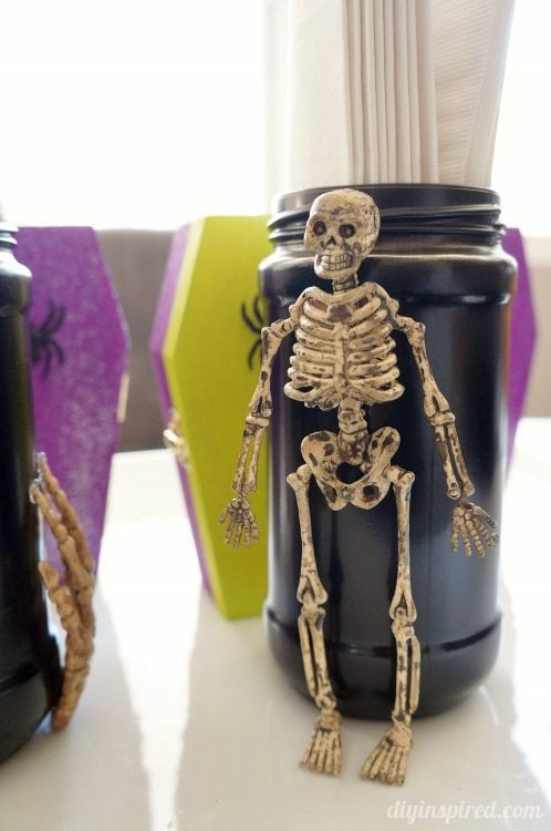 Recycled Jars for Halloween DIY Inspired