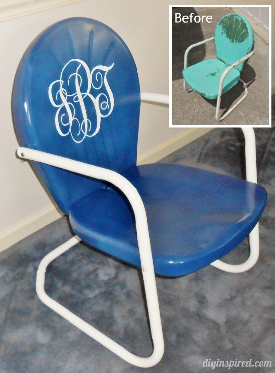 Refurbished Retro Chair Rescue Before and After