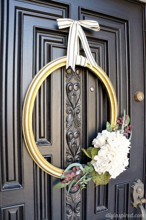 Repurposed Thrift Store Frame Wreath