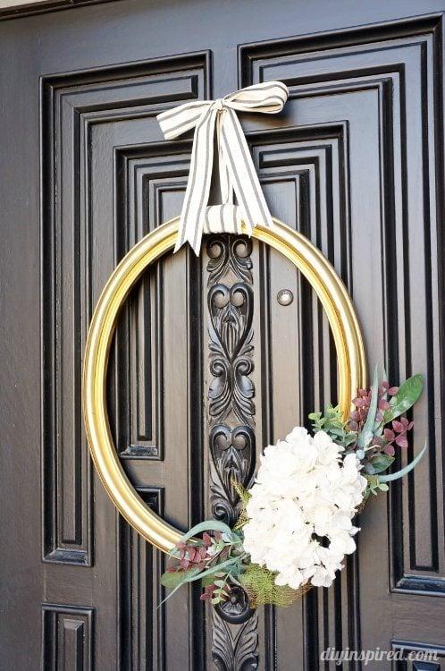 Thrift Store Frame Wreath DIY Inspired