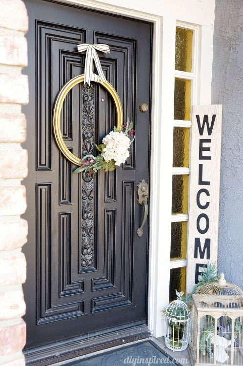 Upcycled Frame Turned Wreath DIY