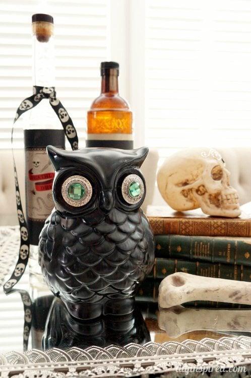 Upcycled Halloween Owl DIY Inspired