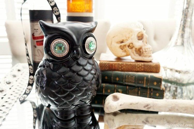 Upcycled Halloween Owl