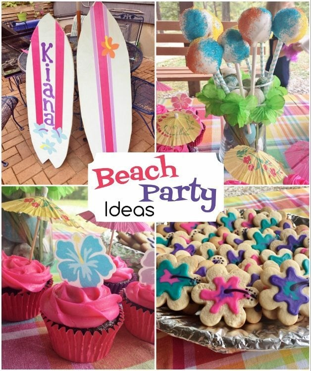 Beach Party Birthday - DIY Inspired
