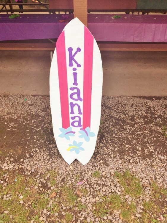 Beach Themed Party Surfboard