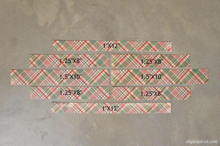 DIY Paper Christmas Ornaments Measurements