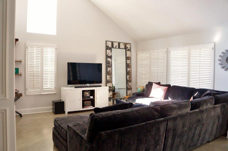 Plantation Shutters Living Room