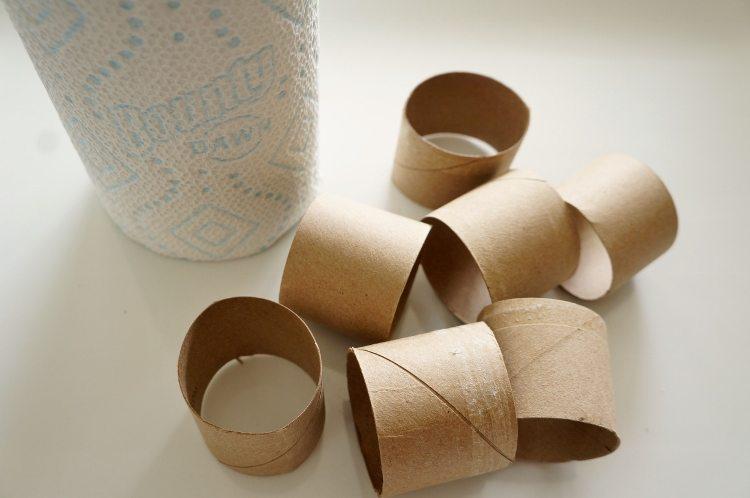 Repurposed Bounty Paper Towel Roll