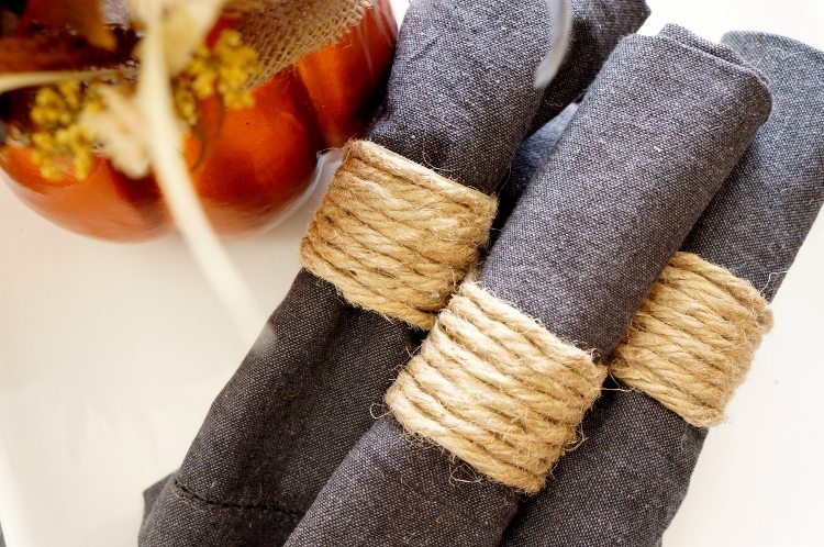 Repurposed Paper Towel Roll Napkin Ring