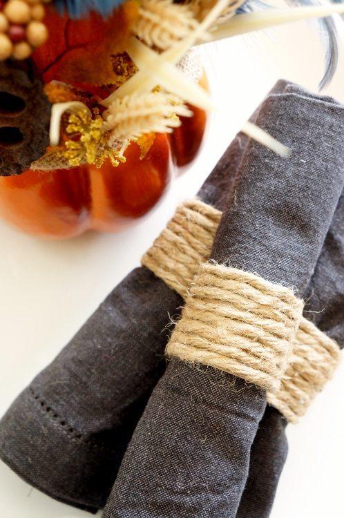 Repurposed Paper Towel Roll Napkin Rings Tutorial