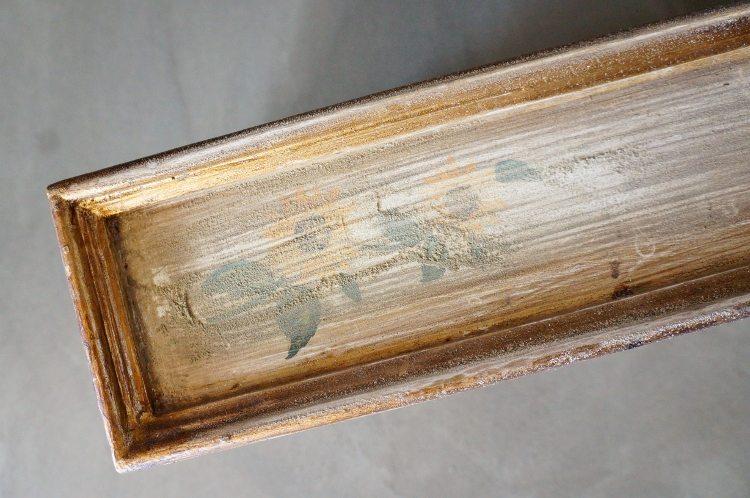 Wooden Side Table Makeover 120 Grit Sandpaper