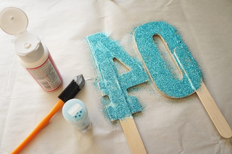 DIY Cake Topper Numbers for Age