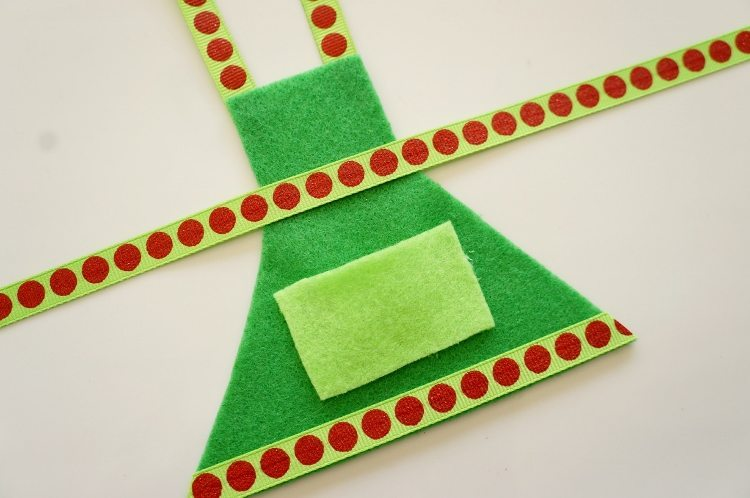 Elf on the Shelf Cooking Apron Elf Clothes