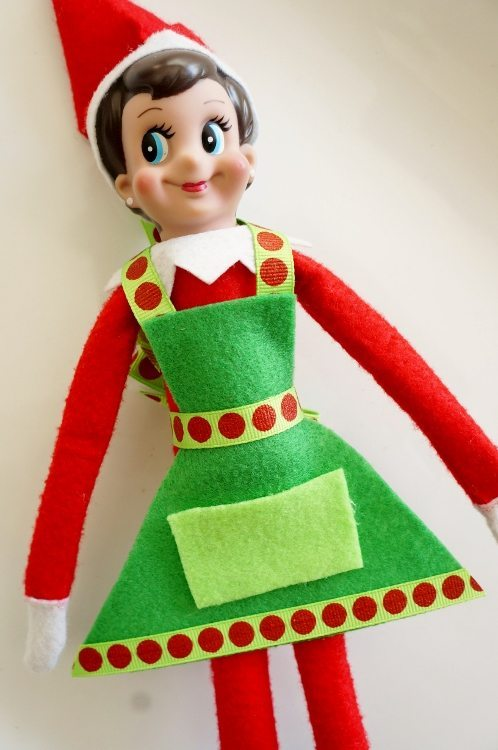Elf on the Shelf No Sew Cooking Apron