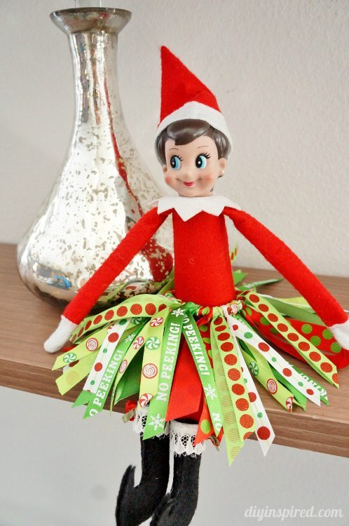 Elf on the Shelf Ribbon Tutu DIY Inspired