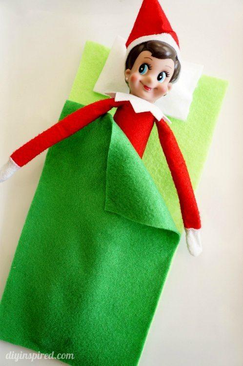 Elf on the Shelf Sleeping Bag DIY Inspired