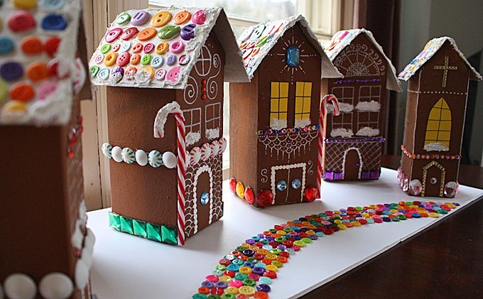 Gingerbread House Village DIY