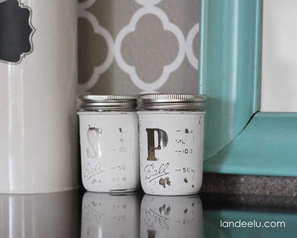 Mason Jar Salt and Pepper Shakers