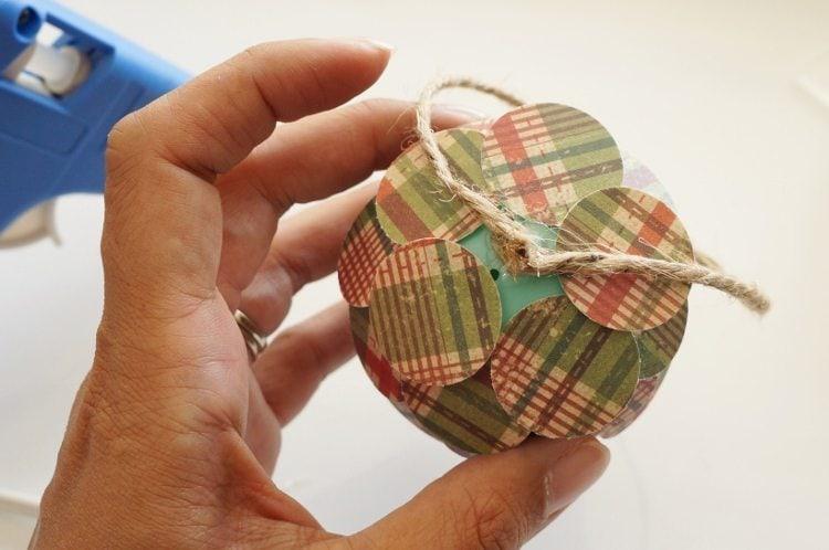 Paper Pine Cone Christmas Ornament DIY