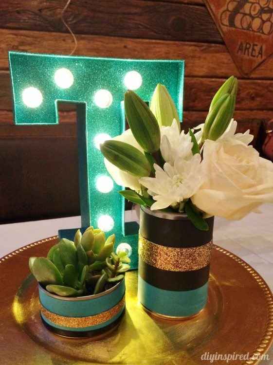 Recycled Can Birthday Centerpieces