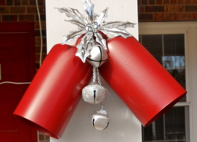 Repurposed Light Fixtures to Christmas Bells