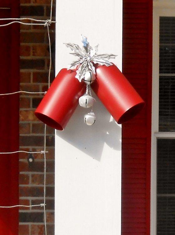 Repurposed Light Fixtures Turned Christmas Bells DIY Inspired