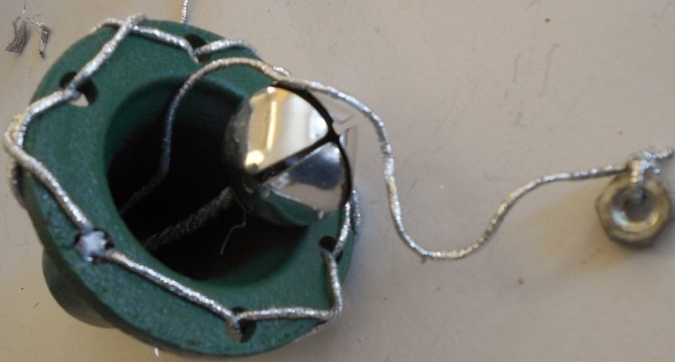 Upcycled Junk Parts to Christmas Bells