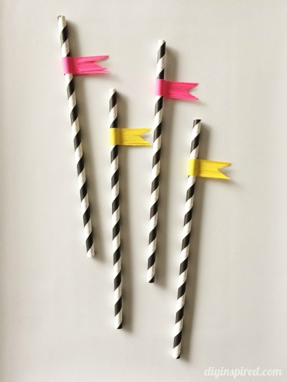 DIY New Years Party Fringed Straws