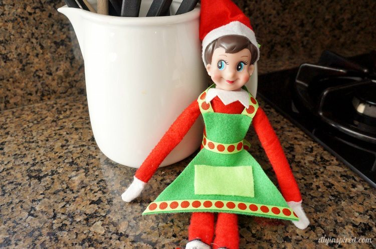 Elf on the Shelf Cooking Apron