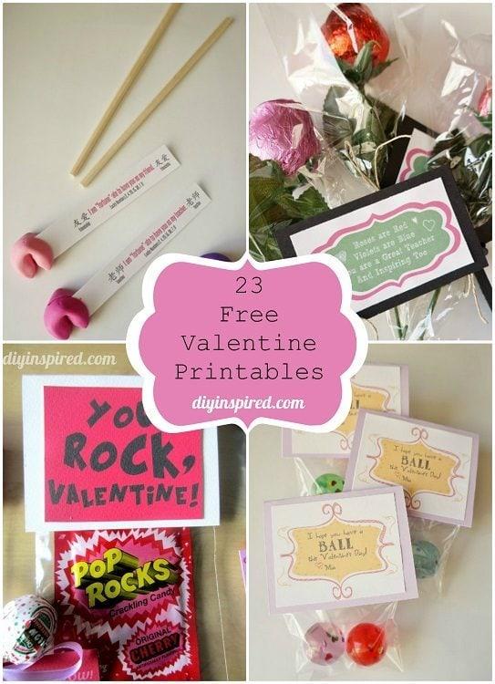 23 Free Valentine Printables DIY Inspired