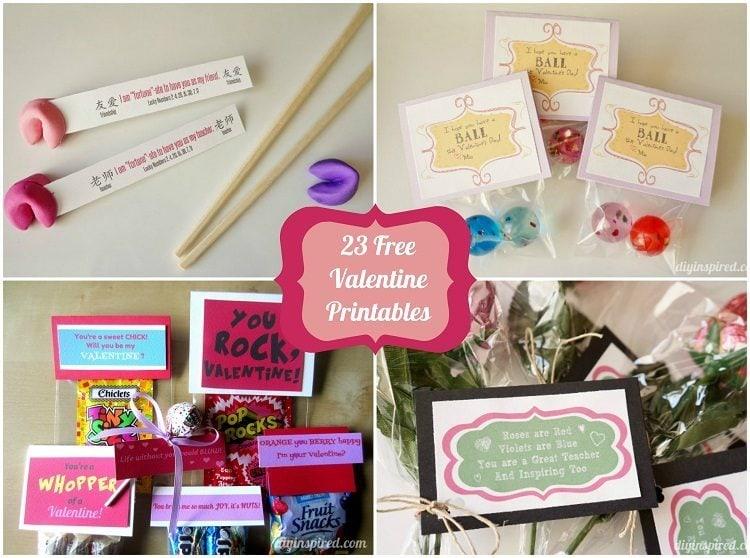 23 Free Valentine Printables