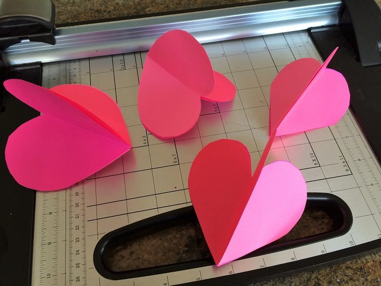 3 Dimensional Paper Hearts