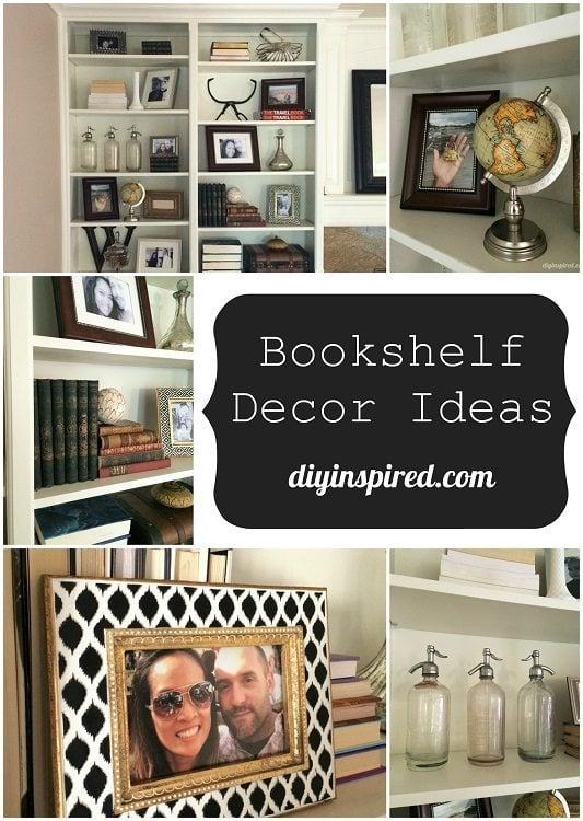 Book Shelf Decor Ideas- DIYInspired.com