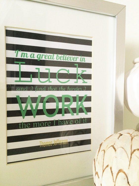 Luck Printables - DIY Inspired