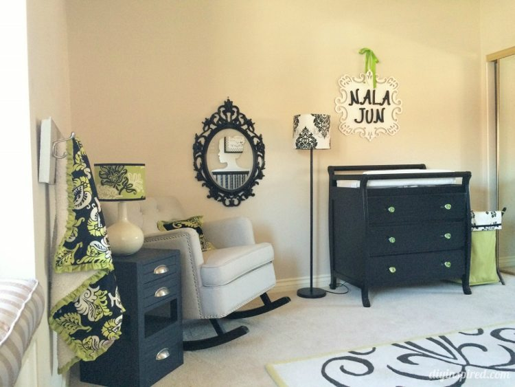 Black, White, and Green Nursery Tour