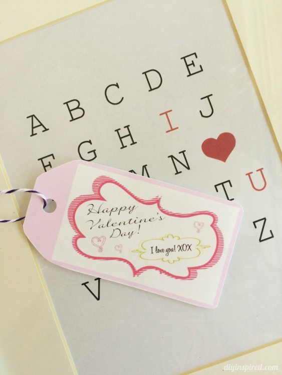 Printable Valentine Gift Tags - DIY Inspired