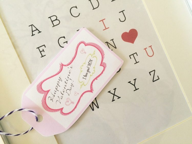 Printable Valentine Gift Tags