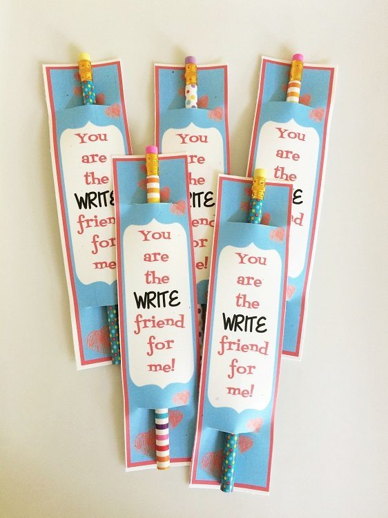 You are the write friend for me Valentine Printables