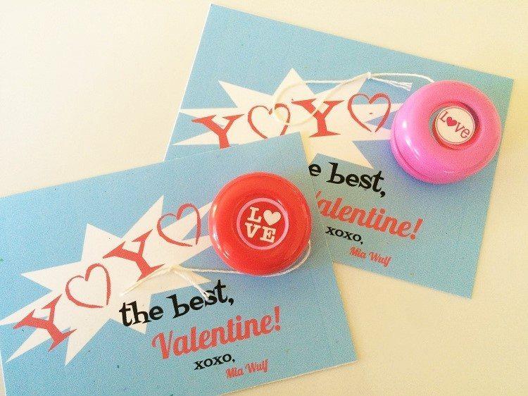 Yoyo Valentine Printable