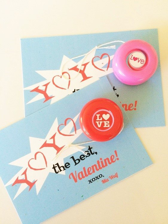 Yoyo Valentine Printable DIY Inspired