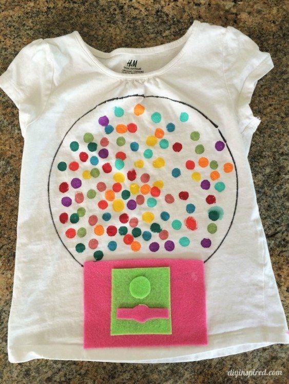 100th Day of School DIY Gumball Machine Shirt